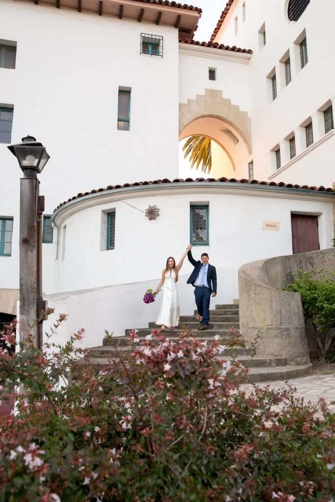 Destination Elopement Elope Eloping Santa Barbara Courthouse Elopement and Wedding Photographer Fine Heart Photography