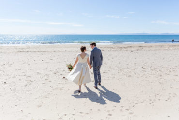 beach wedding photographer elope elopement santa barbara