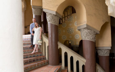 santa barbara courthouse arches staircase wedding elope photo photography